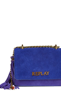 REPLAY CROSSBODY BAG IN SOLID-COLOURED SUEDE
