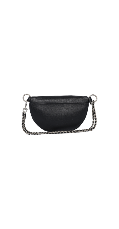 WAIST BAG IN HAMMERED ECO-LEATHER