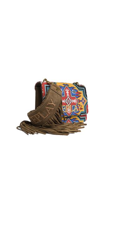 SHOULDER BAG WITH ETHNIC PATTERN