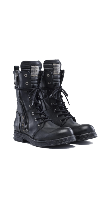 WOMENS EVY LACE UP LEATHER BOOTS