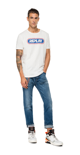 SLUB JERSEY REPLAY T-SHIRT