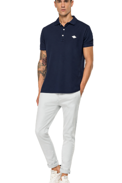 Cotton piqué REPLAY polo shirt