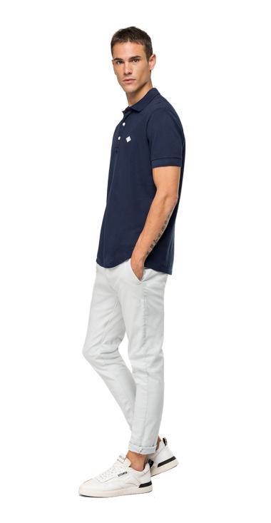Cotton piqué REPLAY polo shirt