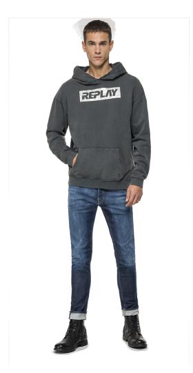 REPLAY sweatshirt with used effect