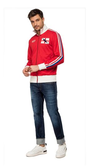 Zipped tech fleece sweatshirt