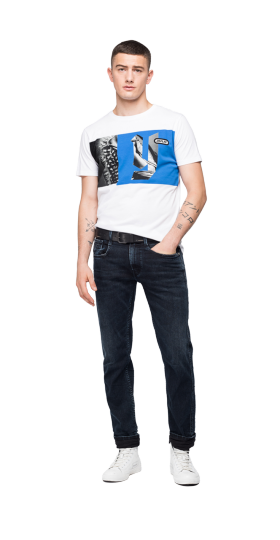REGULAR FIT REPLAY T-SHIRT WITH PRINT