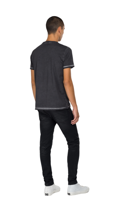 REPLAY ROCK CAPSULE COLLECTION CREWNECK T-SHIRT WITH PRINT