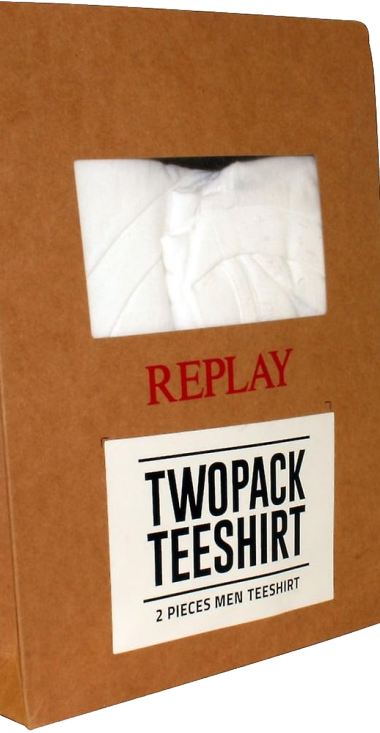 REPLAY T-SHIRT V NECK TWO PACK