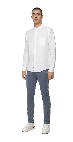 Linen shirt with pocket