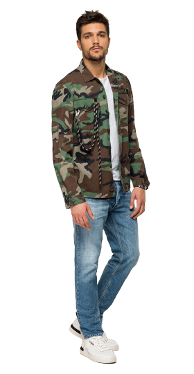CAMOUFLAGE SHIRT WITH CORD