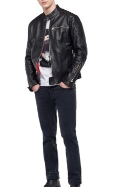 CRUST LEATHER BIKER JACKET
