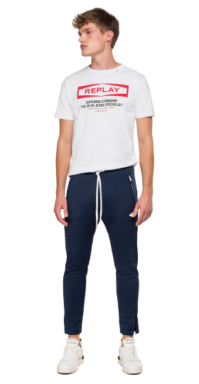 JOGGER WITH REPLAY STRIPED RIBBON