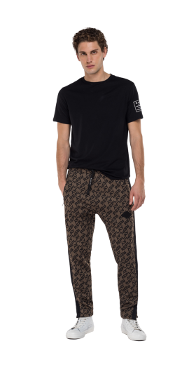 TROUSERS WITH ALL-OVER JACQUARD PRINT