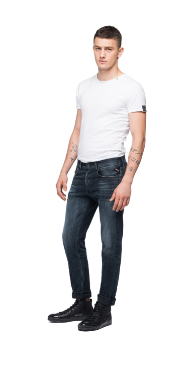 REPLAY BLUE JEANS STRAIGHT FIT GROVER JEANS