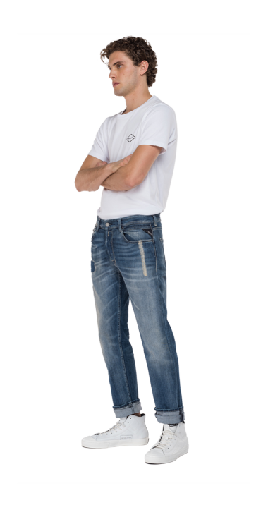 STRAIGHT FIT GROVER SCAR JEANS