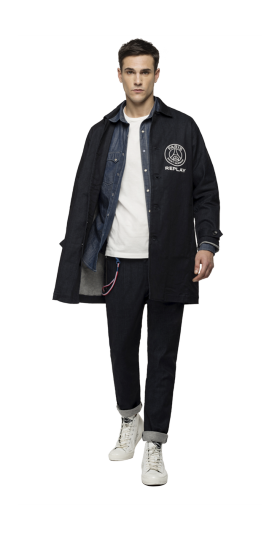 REPLAY PSG DENIM TRENCH COAT
