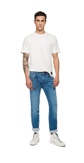 REPLAY PSG ANBASS HYPERFLEX BIO SLIM-FIT JEANS