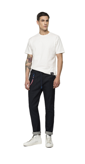 REPLAY PSG TAPERED-RELAXED FIT JEANS