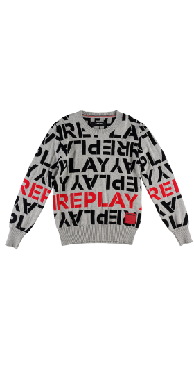 JACQUARD COTTON REPLAY SWEATER