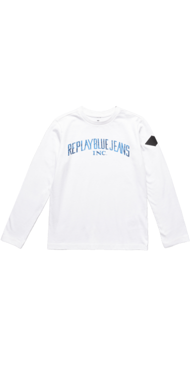 image of REPLAY BLUE JEANS CREWNECK T-SHIRT