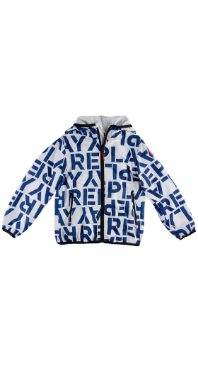 LIGHTWEIGHT JACKET WITH ALL-OVER PRINT