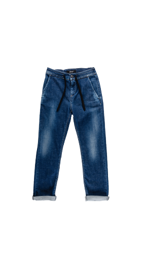 REPLAY JEANS WITH DRAWSTRING