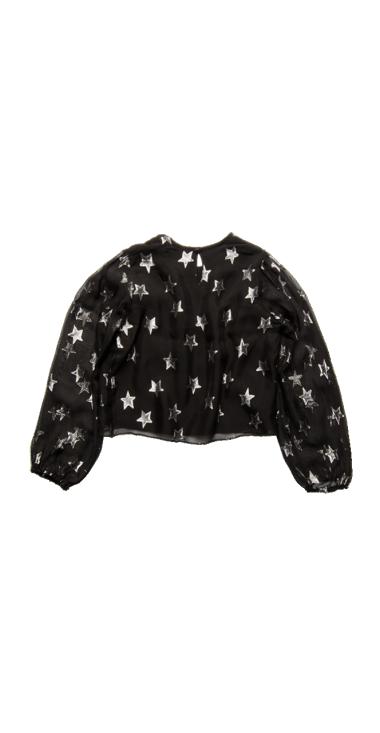 CROP SHIRT WITH ALL-OVER LUREX STARS