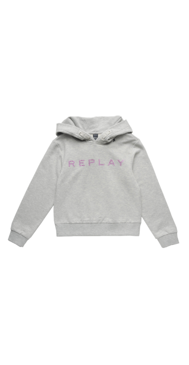 HOODIE WITH GLITTER PRINT
