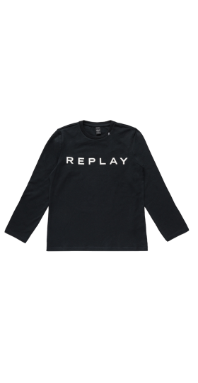 JERSEY T-SHIRT WITH REPLAY PRINT