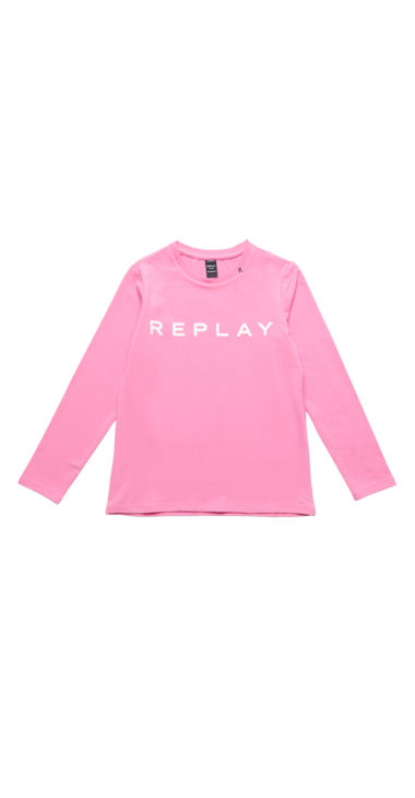 image of JERSEY T-SHIRT WITH REPLAY PRINT