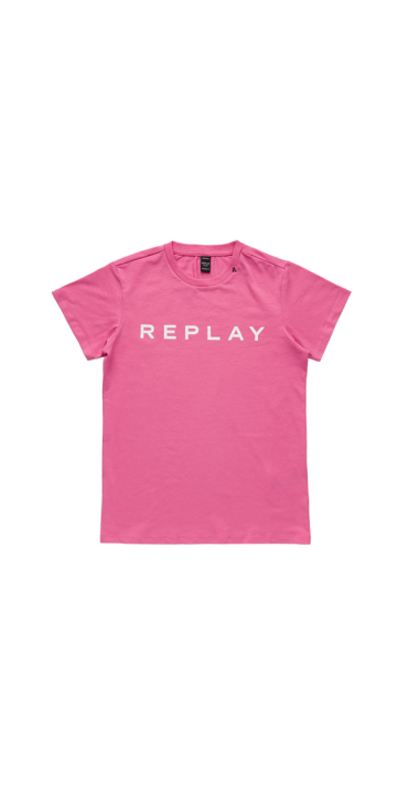 image of JERSEY T-SHIRT WITH REPLAY GLITTER PRINT