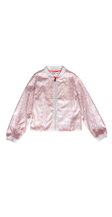 NYLON JACKET WITH SEQUINS