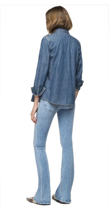 Denim shirt with pockets