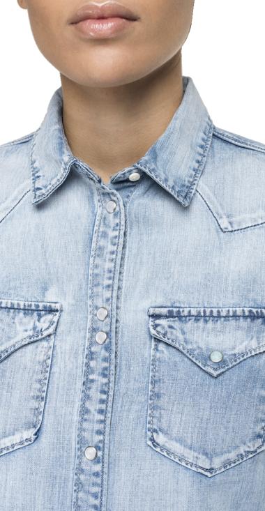 Deep blue denim shirt