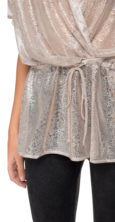 MAXI BLOUSE WITH LUREX