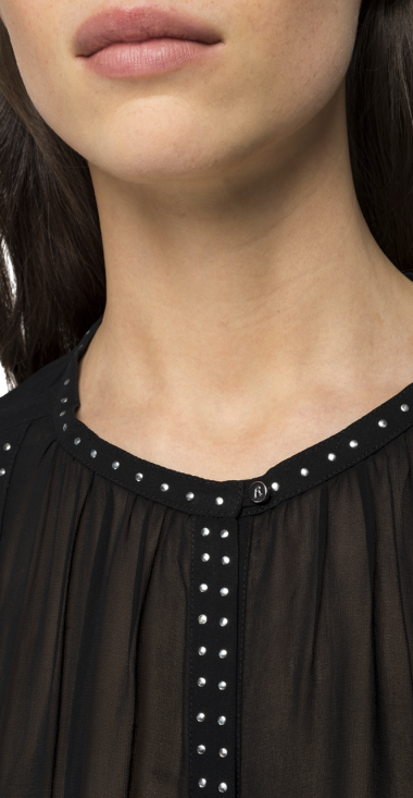 Georgette shirt with studs