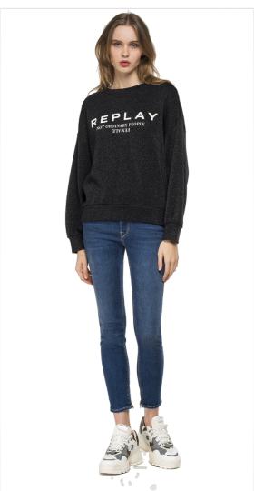 REPLAY sweatshirt with lurex