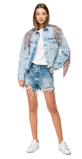 JACKET WITH FRINGES AND SEQUINS