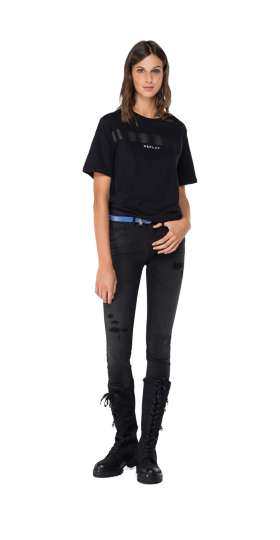 REPLAY T-SHIRT IN COTTON JERSEY