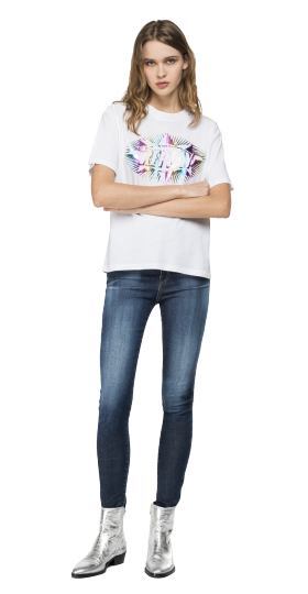 T-SHIRT WITH HOLOGRAPHIC PRINT