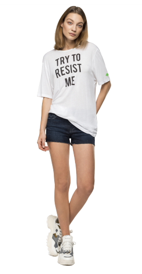 TRY TO RESIST ME VISCOSE T-SHIRT