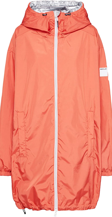 REPLAY REVERSIBLE JACKET WITH LOGO