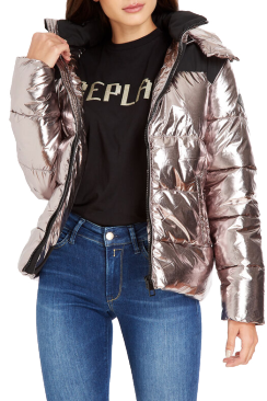 REPLAY WOMEN'S HOODED PADDED JACKET