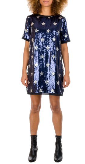 REPLAY WOMEN'S DRESS WITH SEQUINS