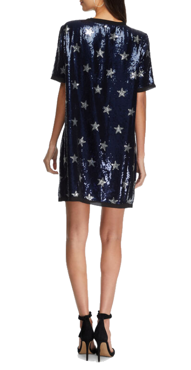 REPLAY WOMENS DRESS WITH SEQUINS