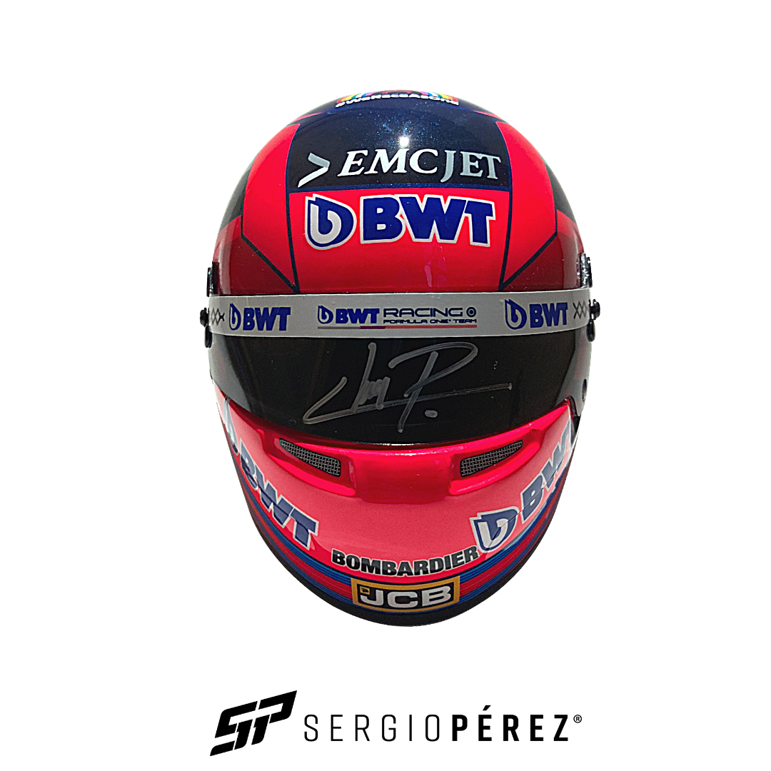 Mini Helmet 2020 signed by Checo