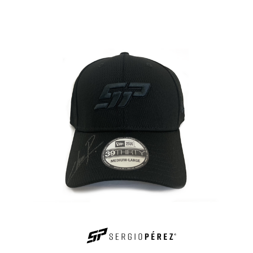 Sergio Perez Collection by New Era; SP Black Cap Signed by Checo