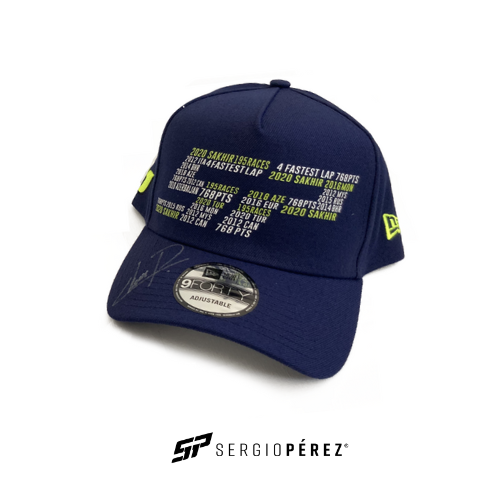 Sergio Perez Collection by New Era; SP History Numbers Edition Signed by Checo