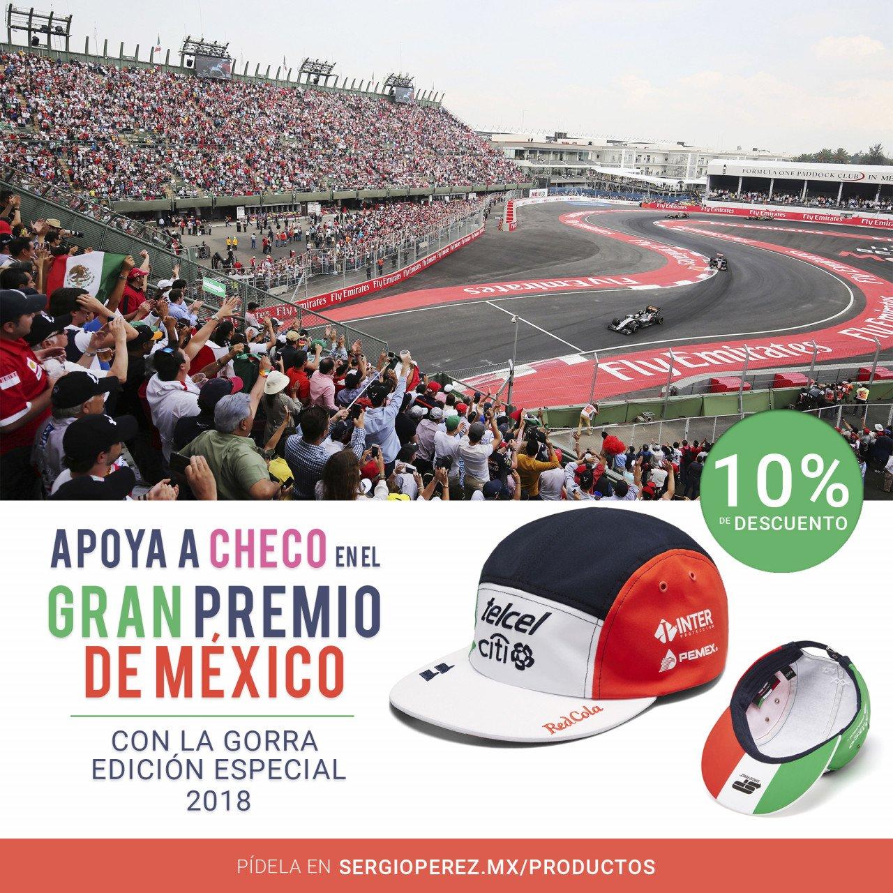 Gorra Sergio Pérez Edición GP de México 2018 (Envío Incluido)