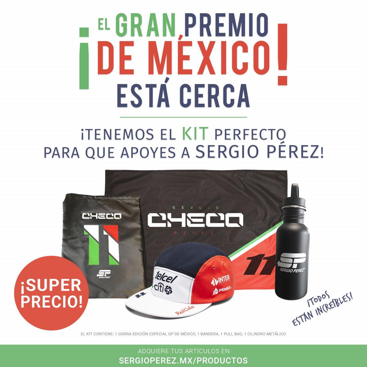 Kit Checo Pérez GP México 2018 (ENVÍO GRATIS)